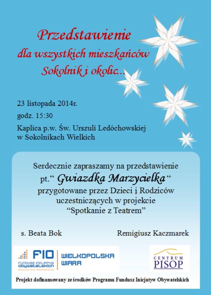 Anioły zaproszenie teatr