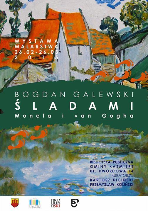 Wystawa prac w Bibliotece - Bogdan Galewski Zaproszenie