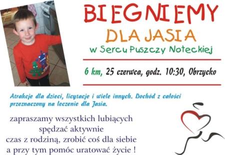 Biegniemy dla Jasia Bieńka w Sercu Puszczy Noteckiej - Obrzycko 2017
